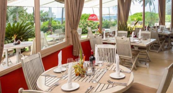Beachfront restaurant